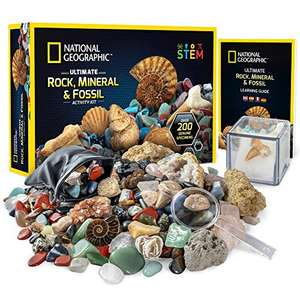 National Geographic Rocks and Fossils Kit 200+ Piece Set £19.99 Amazon Prime Exclusive Sold by National Geographic Science Toys
