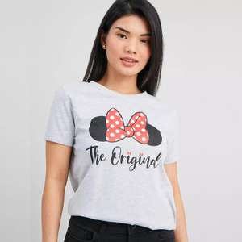 Disney Minnie Mouse Grey T-Shirt - Petite, £5.00 click & collect @ Argos