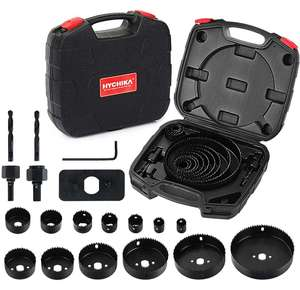 HYCHIKA 19 PCS Hole Saw Set £12.05 Amazon Prime Exclusive Sold by JJmouse_toolkit