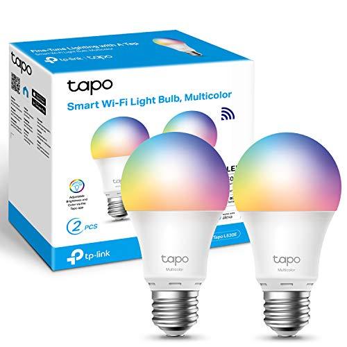 2 - Pack of TP-Link Tapo L530E Smart Wi-Fi Light Bulb, Colour-Changeable, Multicolour, E27, - £12.99 Amazon Prime Exclusive @ Amazon
