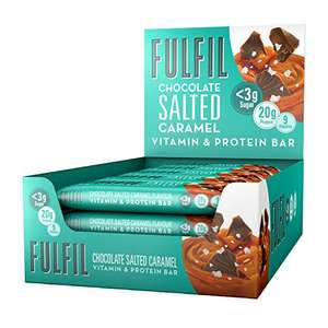 FULFIL Vitamin and Protein Bar (15x55g Bars) Chocolate Salted Caramel 20g High Protein, 9 Vitamins, £18.49 @ Amazon (Prime Exclusive)