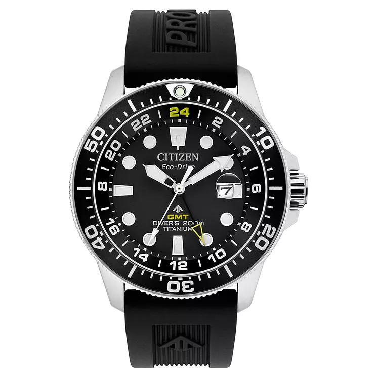 Citizen Men's Titanium GMT Eco-Drive Dive Watch - £239 at H Samuel