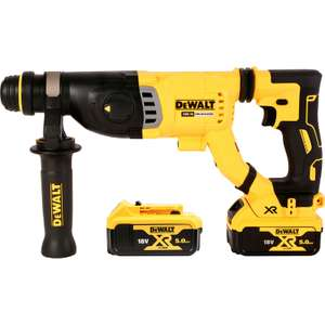 DeWalt DCH263 Cordless SDS Plus drill + 2x5.0Ah batteries + case + charger £224.98 with code @ Toolstation