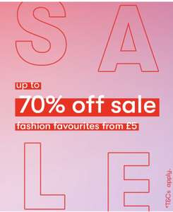 Upto 70% off Sale - Free Next day Click and Collect with code @ New Look