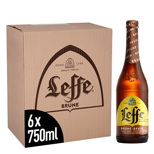 Leffe Brune Belgian Abbey Beer Large Bottle, 6 x 750 ml £13.38 with voucher + £4.49 Non Prime @ Amazon