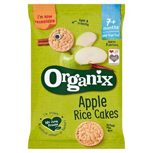 Organix Apple Rice Cakes 7+ Months 50g - 64p @ Co-op
