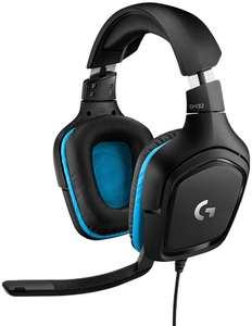 Logitech G432 Gaming Headset 7.1 Surround Sound, DTS - Black & Blue - £29.99 with code @ Currys PC World