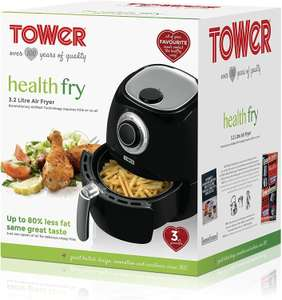 Tower T17005 Manual Air Fryer Oven with Rapid Air Circulation and 30 Min Timer, 3.2 Litre, Black (3 Years warranty) - £35.99 @ Amazon