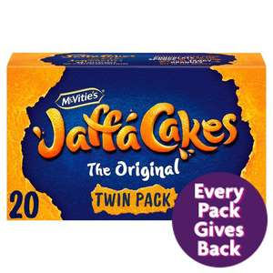 McVitie's Jaffa Cakes Twin Pack 20Pk244g - £1 @ Morrisons