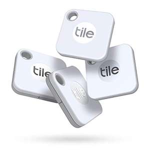 Tile Mate (2020) Bluetooth Item Finder, 4 Pack, White £35.99 @ Amazon
