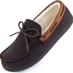 ULTRAIDEAS Men's Comfort Moccasin Slippers - Size 8 & 9- £11.41 + £4.49 non prime (UK mainland) sold by Amazon EU