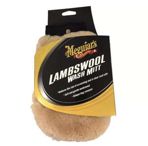 Meguiar's A7301 Luxurious Lambs Wool Car Wash Mitt - £10.40 + free Click and Collect @ Halfords