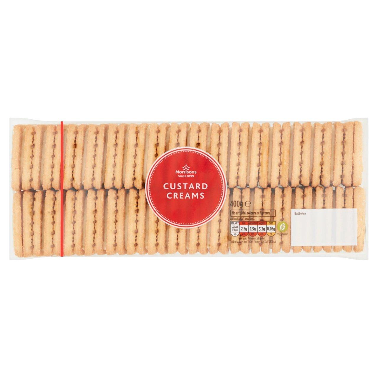 Morrisons Custard Creams Biscuits 400g 39p @ Morrisons