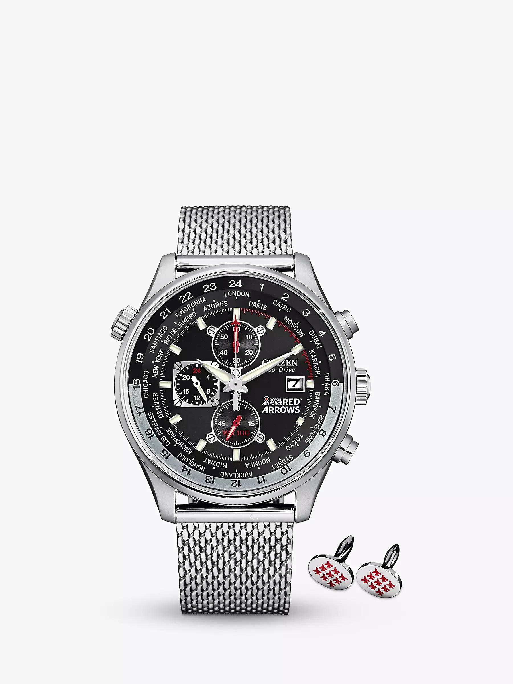 Citizen Eco-Drive Red Arrows Chronograph Watch & Cufflinks Gift Set - £179 @ H Samuel