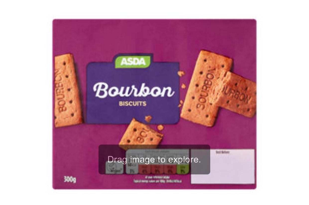 ASDA Bourbon Biscuits 300g 33p @ Asda