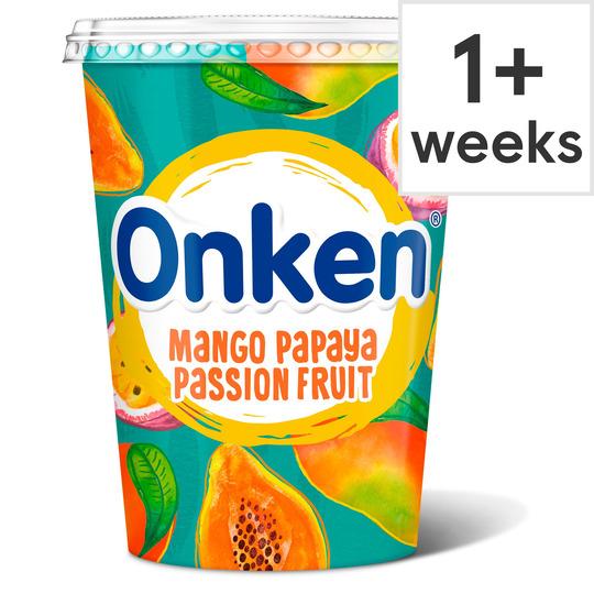Onken Yogurt Mango & Passion Fruit, Natural, Vanilla, Cherry, Strawberry, Blueberry, Mango & Apple 450G,500G £1 (Clubcard Price) at Tesco