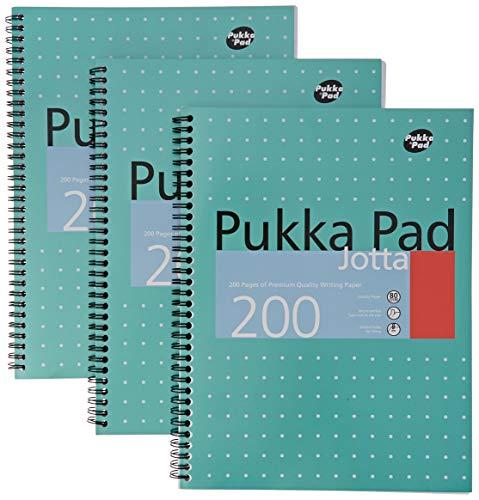 Pukka Pads A4 Metallic Jotta Wirebound Notebook (Pack of 3), White - £4.78 (+£4.49 non prime) @ Amazon