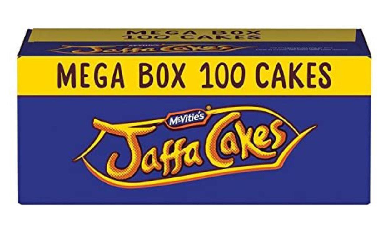 McVitie's Jaffa Cakes Original Mega Value Pack Biscuits 100 Pack £4.50 Amazon Prime (+£4.49 Non Prime)