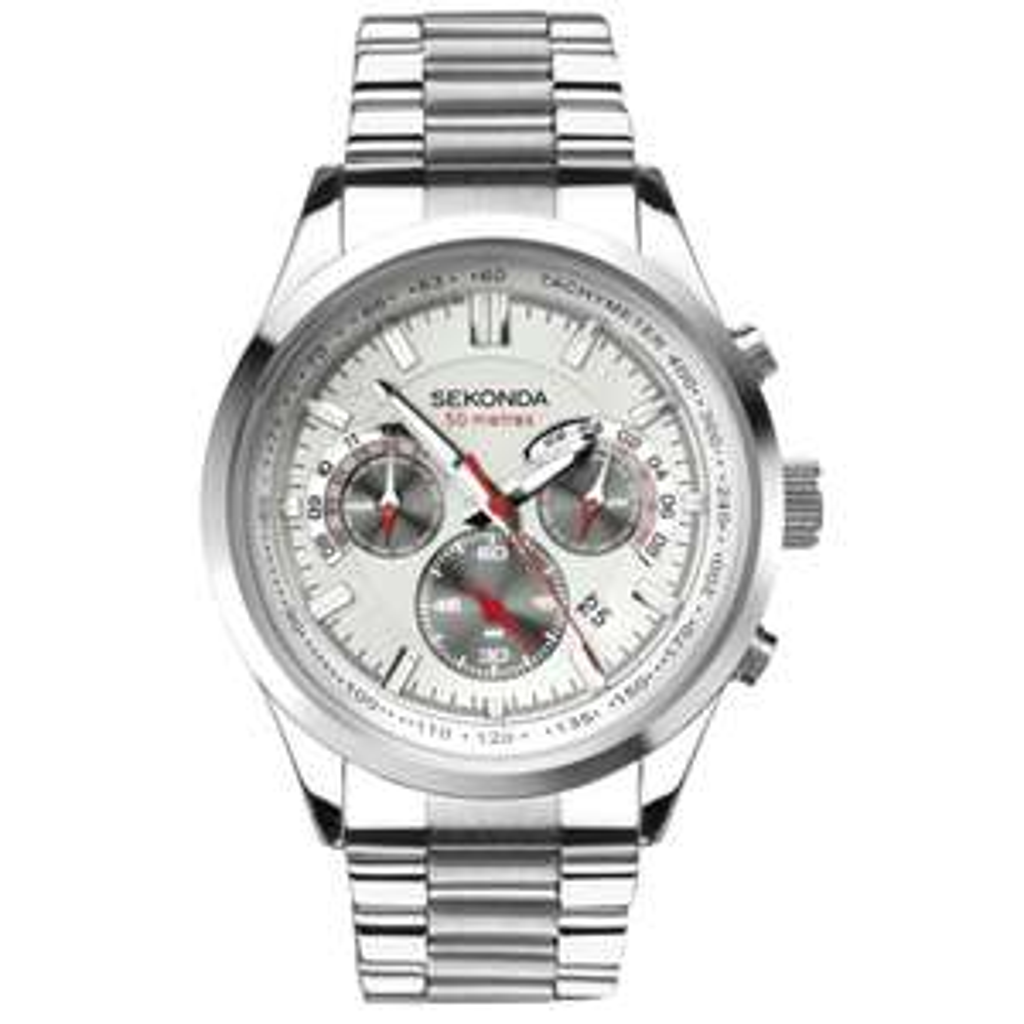 Sekonda Men's Silver Stainless Steel Bracelet Watch £26.49 click & collect @ Argos
