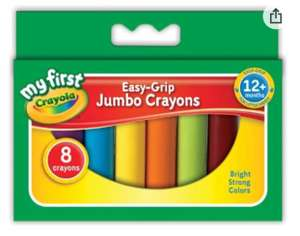 CRAYOLA Jumbo Crayons x8 - £2.68 Prime / +£4.49 non Prime Sold by Booghe Shop and Fulfilled by Amazon
