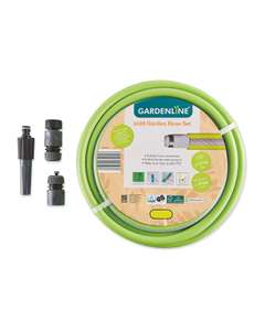 20m Hose Pipe (reinforced) with fittings/nozzle - £12.94 delivered @ Aldi