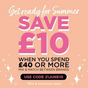 £10 Off a £40 spend using discount code @ Sally Beauty