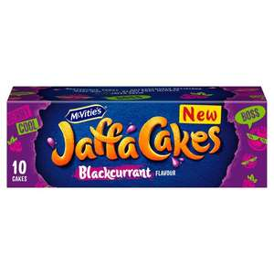 McVitie's Blackcurrant Flavour Jaffa Cakes 10 pack £1 / Free with code (Min spend applies) @ Tesco