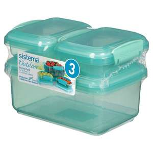 Sistema Outdoor 3 Pack Mint £3 - Clubcard Price @ Tesco