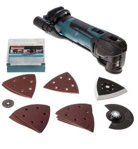 Makita DTM51ZJX7 18 V Quick Release Multi-Tool Cordless with Accessories in Makpac Case (no batteries included) £120 at Amazon
