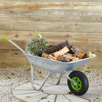 65l Wheelbarrow Home Garden Cart Galvanised w/ Pneumatic Tyre £28.79 Nectar code (£30.59 non-Nectar) UK Mainland @ neodirect eBay