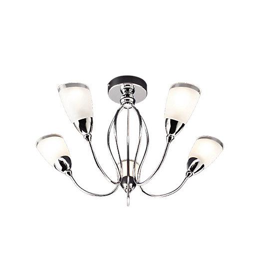 Wickes Abora Semi Flush Ceiling Light - £10 (Free Click & Collect) @ Wickes