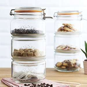 Kilner Stackable Storage Jar Set, 17.5 x 17.5 x 32 cm - £12.30 (+£4.49 non-prime) Usually dispatched within 2 to 5 weeks @ Amazon