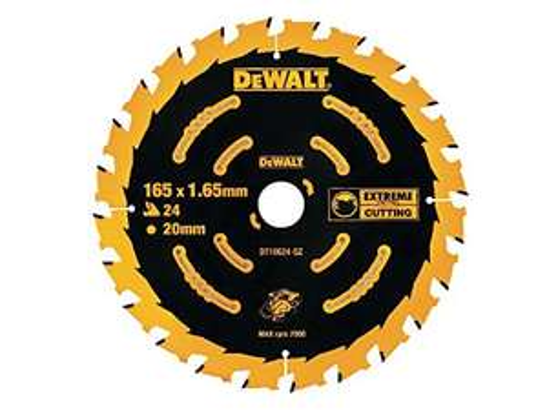 DEWALT DT10624-QZ Extreme Framing Circular Saw Blade 165 mm 24T - £9.95 Amazon Prime (+£4.49 Non Prime)