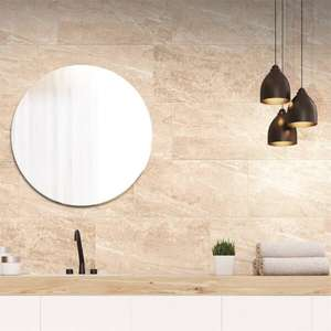 Nepalese Porcelain Wall & Floor Tiles - (Mocha / Honey / Cream) 600 x 300mm - Half price Pack of 6 - £10.80 @ Homebase (Free Click & Collect