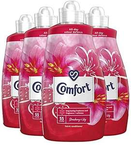 Comfort Fabric Conditioner and Softener Liquid, Laundry, Strawberry and Lily 220 Washes 1.925 Litre x 4 Packs - £10.40 (+£4.49 NP) @ Amazon