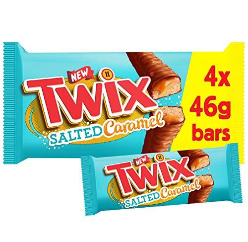 Twix Salted Caramel, 4 x 46g 88p prime / £5.37 non prime @ Amazon