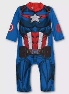 Marvel Avengers Captain America Sunsuit from £5 (free click & collect / £3.95 delivery) @ Argos