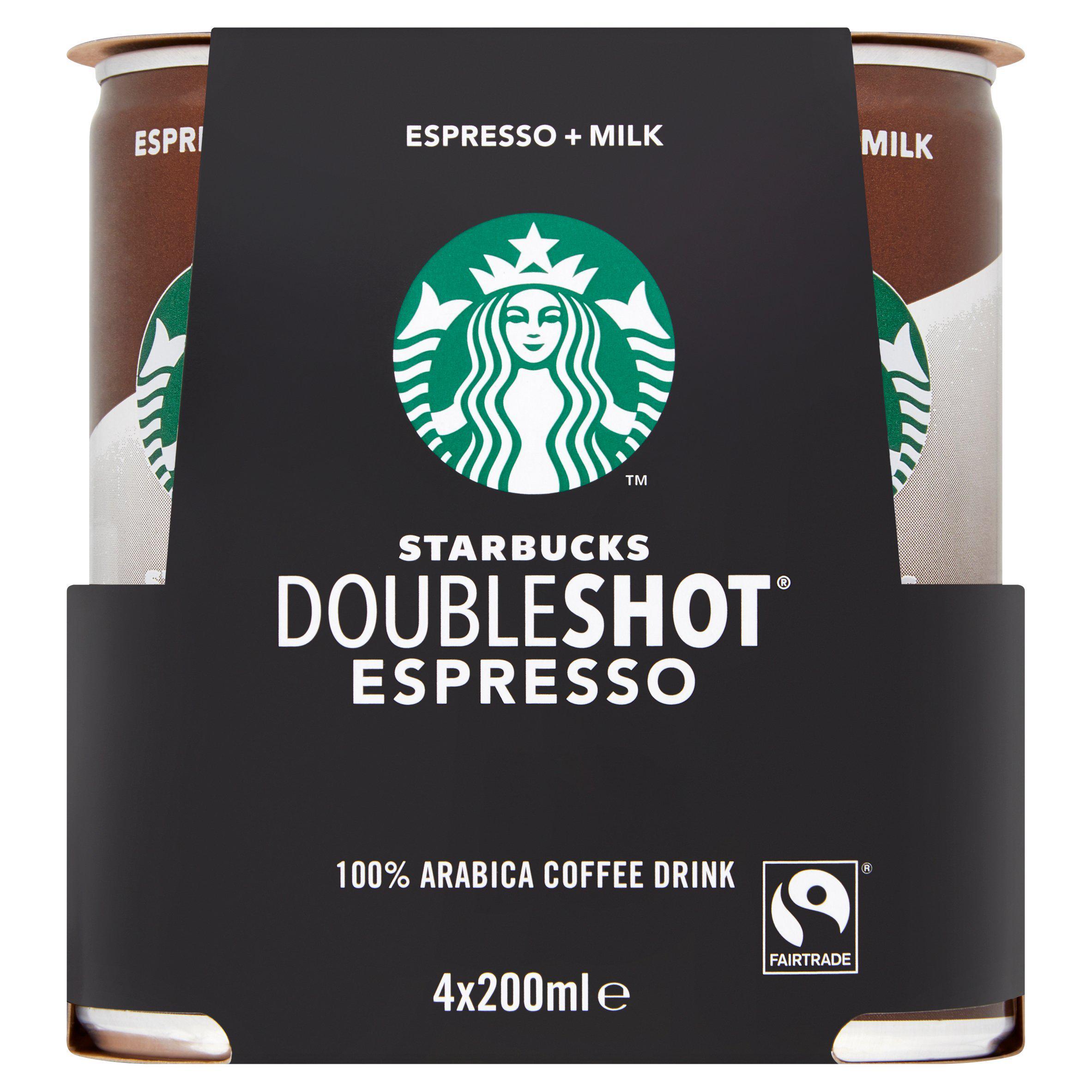 Starbucks Doubleshot Espresso 4x200ml - £3.50 @ Sainsbury's