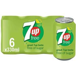 7up Free 6 x 330ml Can Packs are £1.75 @ Sainsbury's