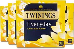 Twinings Everyday Tea 400 Bags (Multipack of 4 x 100 Tea Bags) £10 (+£4.49 nonPrime) / £7.50 with subscribe and save at Amazon