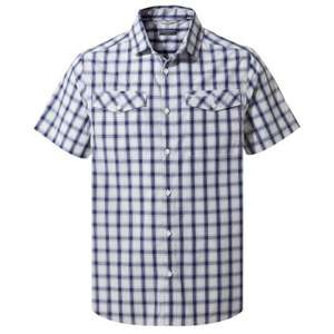 Craghoppers Passos short-sleeved shirt in Lapis blue check for £13.99 delivered using code @ Hawskshead