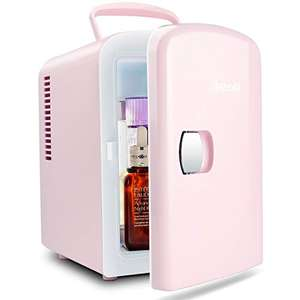 AstroAI Mini Fridge 4 Litre/6 Can Portable AC/DC Powered Thermoelectric System Cooler and Warmer-Pink @ AstroAI Corporation EU FBA