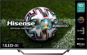 HISENSE 50U7QFTUK Quantum Series 50-inch 4K UHD HDR Smart TV with Freeview play, and Alexa Built-in (2020 series), Silver - £449.92 @ Amazon
