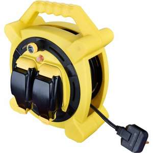Masterplug 13A 2-Gang 15M Cable Reel 240V £24 instore @ Wilko Chester (+£5 delivery online)