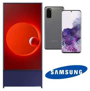 """Samsung The Sero 43"""" QLED 4K HDR Smart TV + Free Samsung Galaxy S20 Smartphone + Free £50 Gift Card - £899 Delivered @ Hughes"""