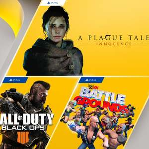 PS Plus Games (July 2021) - A Plague Tale: Innocence (PS5), Call of Duty: Black Ops 4 (PS4), WWE 2K Battlegrounds (PS4)