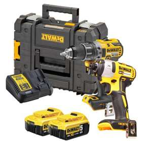 Dewalt DCK268P2T 18v XR Brushless 2 Piece Kit with 2 x 5Ah Batteries, Charger and Case - £263.99 @ ITS