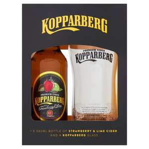 Kopparberg Cider Strawberry & Lime With Glass 330ml £2.50 at Morrisons (Min Basket / Delivery Charge Applies)