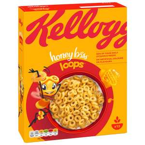 Kellogg's Honey Loops 375g £1 in store at B&M Stores