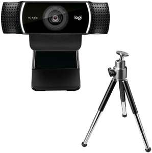 Logitech C922 Pro Stream Webcam with Tripod, £58.49 delivered with code (UK Mainland) at Box_deals/ebay